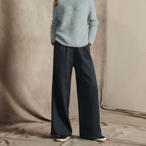 Rebecca Taylor Wide Leg Wool Trouser